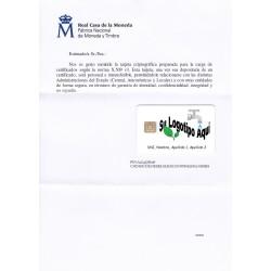 Tarjeta criptográfica TC-FNMT Blanca Personlaizada